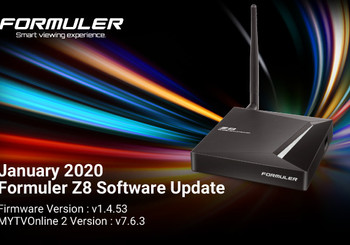 January 2020 Formuler Z8 Software Update