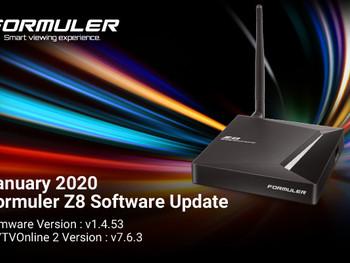 January 2020 Formuler Z8 Software Update