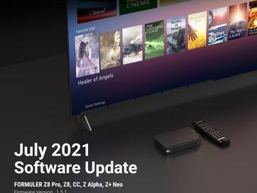 July 2021 Formuler Software Update
