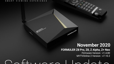 November 2020 Formuler Software Update