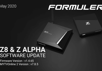 May 2020 Formuler Z8 & Z Alpha Software Update