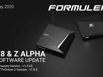 May 2020 Formuler Z8 & Z Alpha Software Update