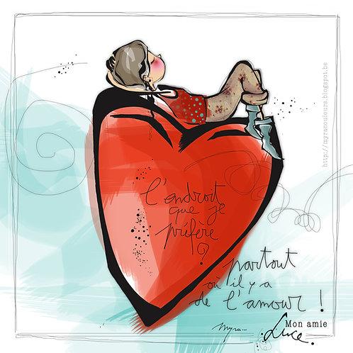 Cartes illustrées de Myra Vienne (coeur)