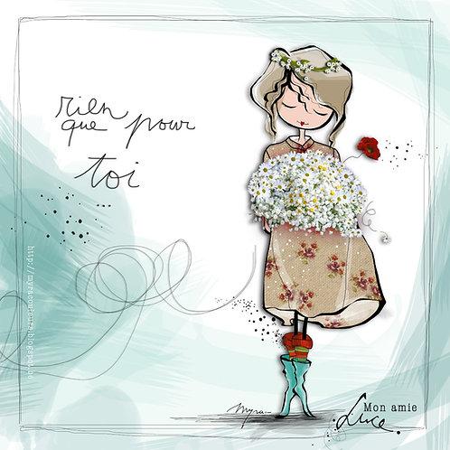 Cartes illustrées de Myra Vienne (fleurs)