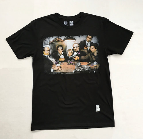 BIBIA Gangster Poker T-shirt by GDA Get Down Art License