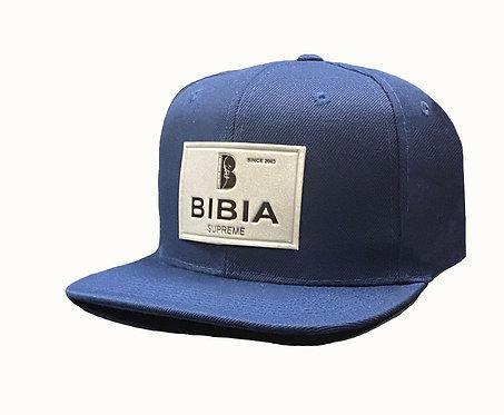 BIBIA Brand Label Coutour Navy Blue Cap