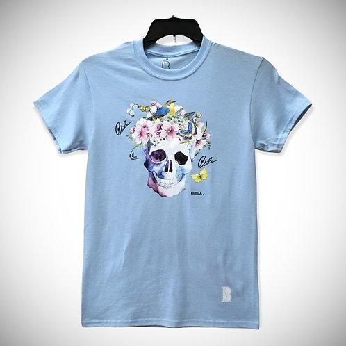 BIBIA Brand Azure Blue Skull T-shirt