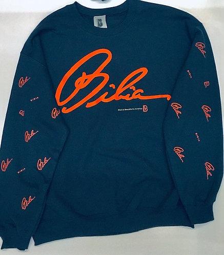 BIBIA Brand Navy Signature Sweater