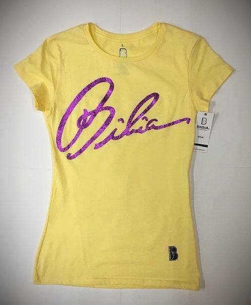BIBIA Banana Signature Glitter T-shirt