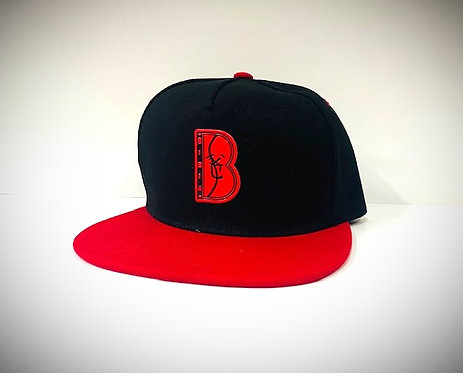 """BIBIA  2 Tone Brand """"B"""" logo Cap"""