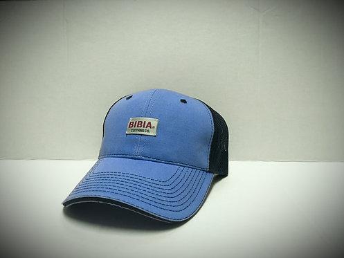 BIBIA Brand Woven Mesh Curve  Azure Blue Cap