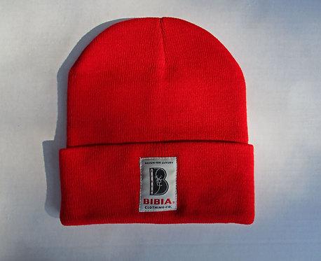BIBIA Brand Red Beanie Cap