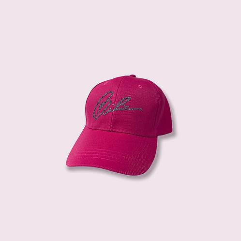 BIBIA  Pink Signature Glitter Fusion Cap