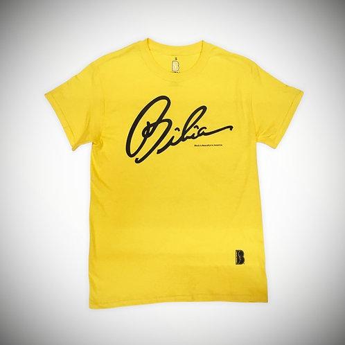 BIBIA Brand Conclusion Yellow T-shirt