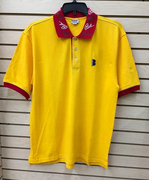 BIBIA Gold Signature Polo Shirt