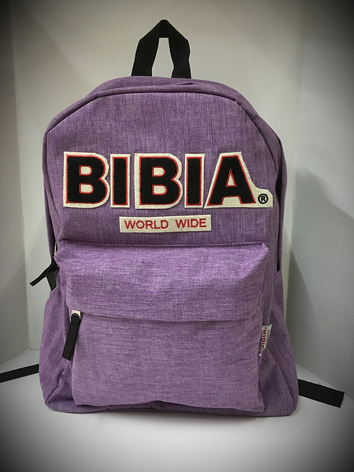 BIBIA Orchid Chenille Brand Backpack