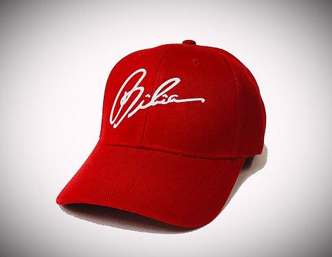 BIBIA Glitter Signature Curve Chinese Red Cap