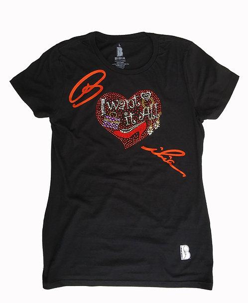 BIBIA Glamour Heart T-shirt