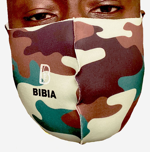 BIBIA Camouflage Face Mask, Reusable
