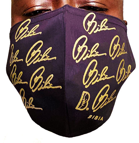 BIBIA Gold Signature Reusable and Washable Face Mask