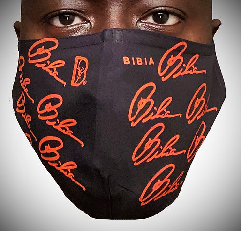 BIBIA Red Signature Reusable and Washable Face Mask