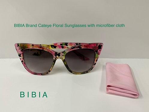 BIBIA Brand Floral Cateye Sunglasses