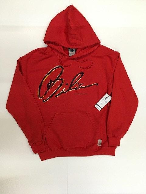BIBIA Red Signature Iridescent Hoodie