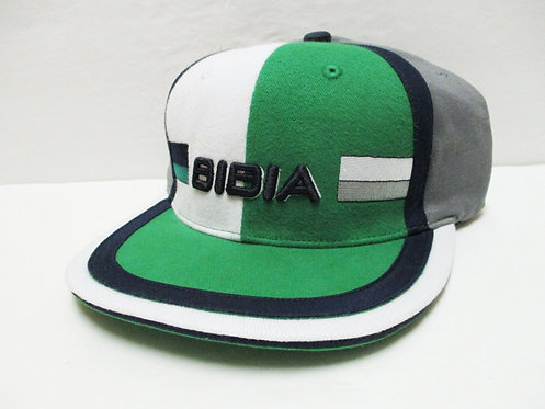 BIBIA Brand Tri Color Cap Bright Green