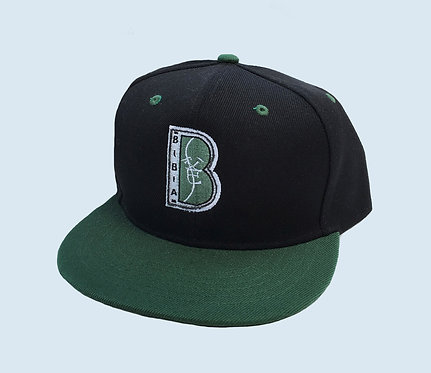 "BIBIA Brand ""B"" logo Snap-back hat ""Vetiver Green"""