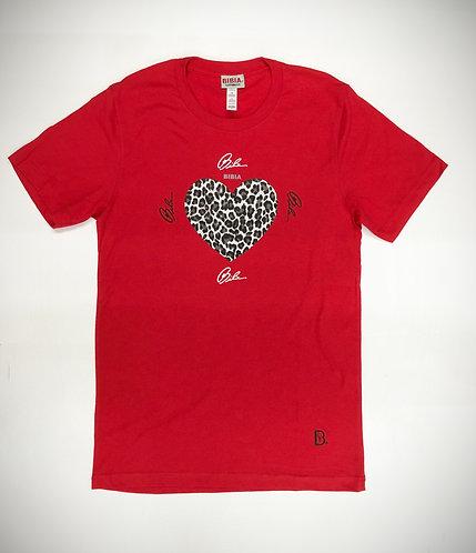 BIBIA Brand Leopard Signature Hart T-shirt
