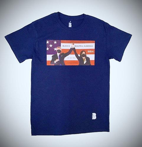 BIBIA Brand Presidential T-shirt Navy Blue