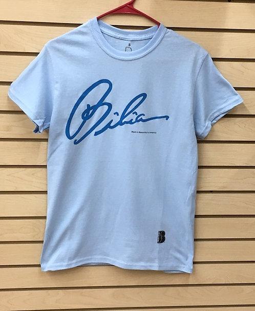BIBIA Brand Azure Blue Signature T shirt