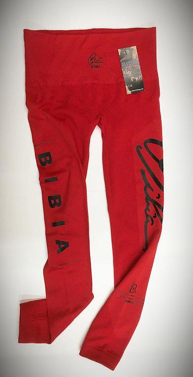 BIBIA Brand Red Couture Signature Leggins