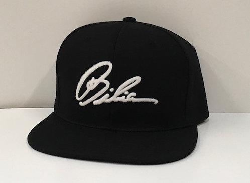 BIBIA Jet Black Brand Signature Cap