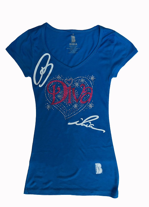 BIBIA Diva Savage T-shirt with Signature Couture design