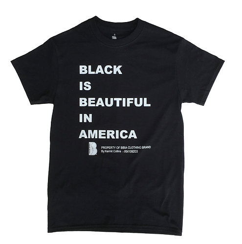 BIBIA Power Message Brand T-shirt - Black and White