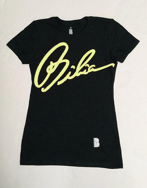 BIBIA Neon Yellow Signature T-shirt