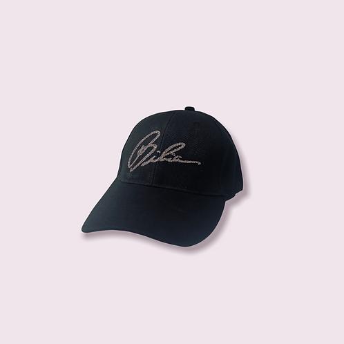 BIBIA Jet Black Signature Curve Cap