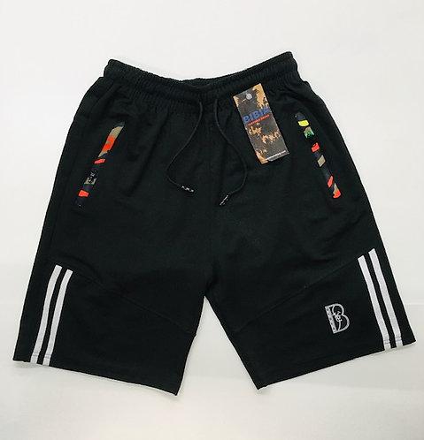 BIBIA Jet Black Brand Contrast Shorts