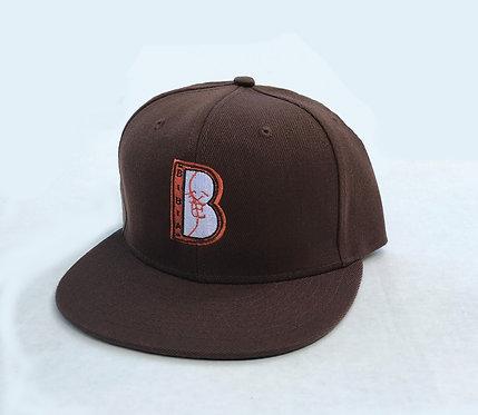 "BIBIA Brand ""B"" logo Snap-back hat ""Aztec Dark Brown"""
