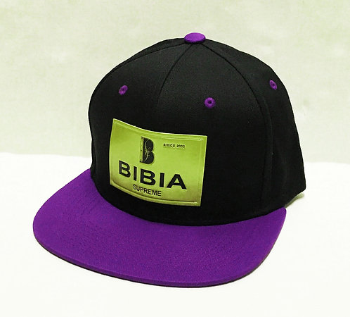 BIBIA Brand Gold Label Black and Deep Lavender Cap