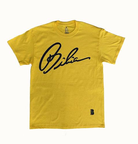 """BIBIA Signature Brand T-shirt """"Blazing Yellow"""""""