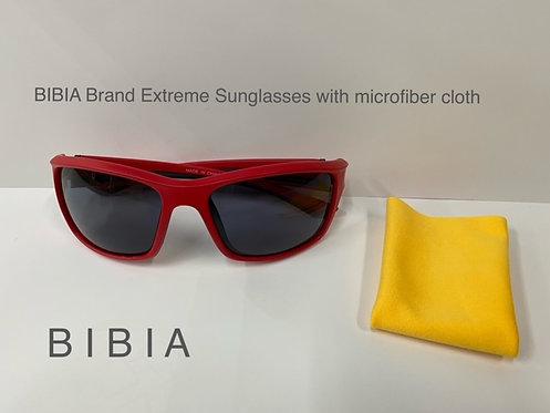 BIBIA Brand Extreme Sunglasses, Dramatic Red