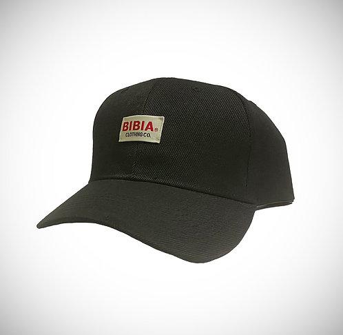 BIBIA Womens Jet Black Brand Label Curve Cap