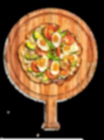 wipco tablas de madera pizza