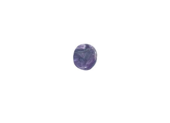 Rainbow Fluorite Worry Stone