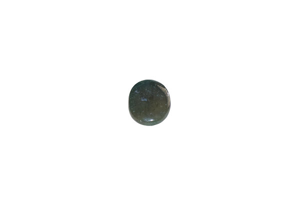 Green Moss Agate Worry Stone
