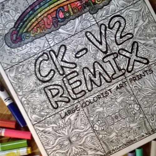 CK V2 REMIX Large Art Prints