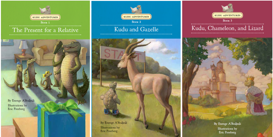 three Kudu Adventures book covers