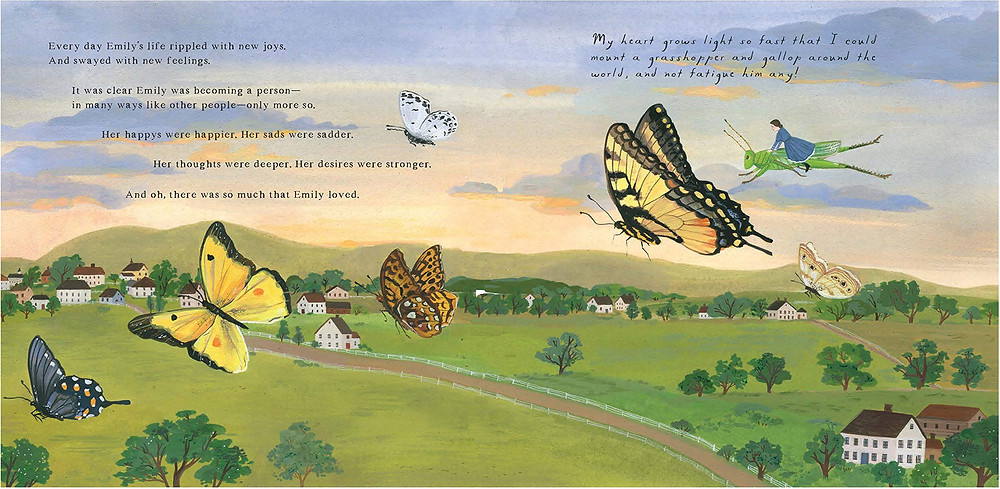 a spread from On Wings of Words